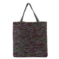 Full Frame Shot Of Abstract Pattern Grocery Tote Bag