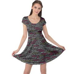 Full Frame Shot Of Abstract Pattern Cap Sleeve Dresses