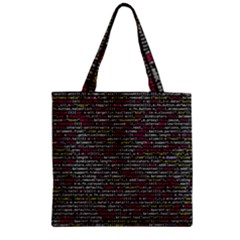Full Frame Shot Of Abstract Pattern Zipper Grocery Tote Bag