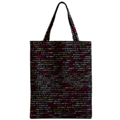 Full Frame Shot Of Abstract Pattern Zipper Classic Tote Bag