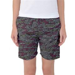 Full Frame Shot Of Abstract Pattern Women s Basketball Shorts