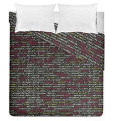 Full Frame Shot Of Abstract Pattern Duvet Cover Double Side (queen Size)