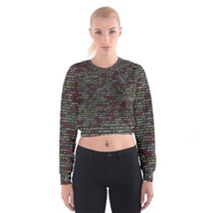 Full Frame Shot Of Abstract Pattern Women s Cropped Sweatshirt