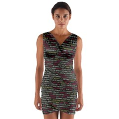 Full Frame Shot Of Abstract Pattern Wrap Front Bodycon Dress