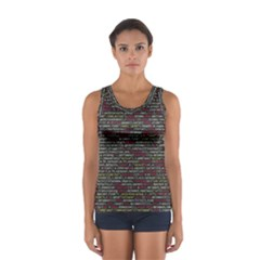 Full Frame Shot Of Abstract Pattern Women s Sport Tank Top