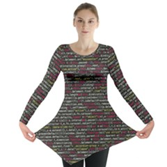 Full Frame Shot Of Abstract Pattern Long Sleeve Tunic