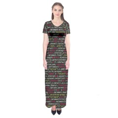 Full Frame Shot Of Abstract Pattern Short Sleeve Maxi Dress