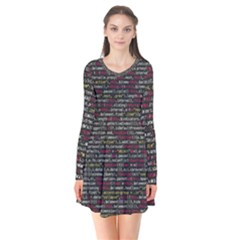 Full Frame Shot Of Abstract Pattern Flare Dress