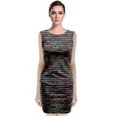 Full Frame Shot Of Abstract Pattern Sleeveless Velvet Midi Dress