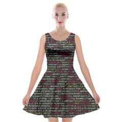Full Frame Shot Of Abstract Pattern Velvet Skater Dress