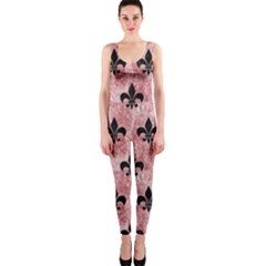 Royal1 Black Marble & Red & White Marble Onepiece Catsuit