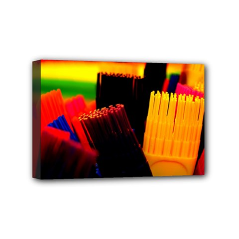 Plastic Brush Color Yellow Red Mini Canvas 6  x 4