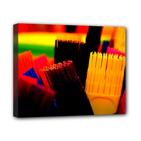 Plastic Brush Color Yellow Red Canvas 10  X 8