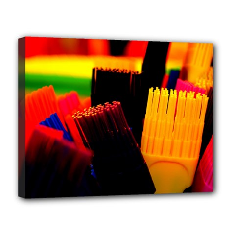 Plastic Brush Color Yellow Red Canvas 14  X 11