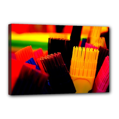 Plastic Brush Color Yellow Red Canvas 18  X 12