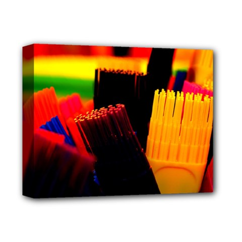Plastic Brush Color Yellow Red Deluxe Canvas 14  X 11