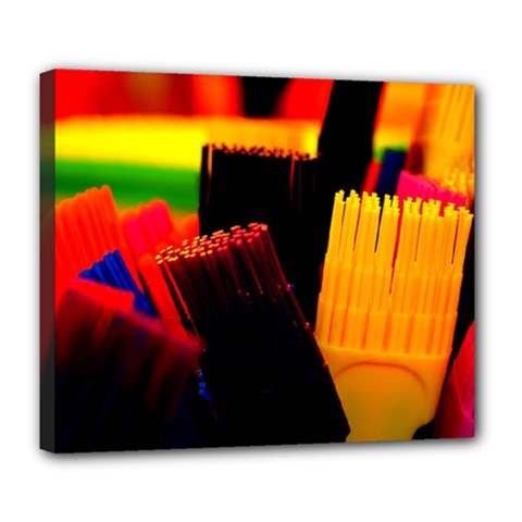 Plastic Brush Color Yellow Red Deluxe Canvas 24  X 20