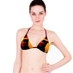 Plastic Brush Color Yellow Red Bikini Top