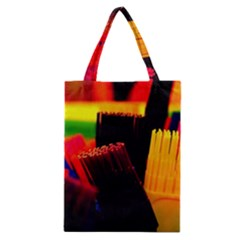 Plastic Brush Color Yellow Red Classic Tote Bag