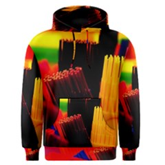 Plastic Brush Color Yellow Red Men s Pullover Hoodie