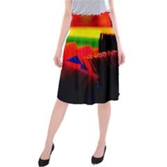 Plastic Brush Color Yellow Red Midi Beach Skirt