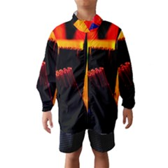 Plastic Brush Color Yellow Red Wind Breaker (kids)