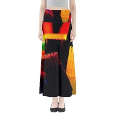 Plastic Brush Color Yellow Red Maxi Skirts