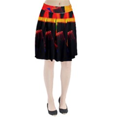 Plastic Brush Color Yellow Red Pleated Skirt