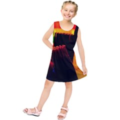Plastic Brush Color Yellow Red Kids  Tunic Dress