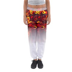 Effect Pattern Brush Red Women s Jogger Sweatpants