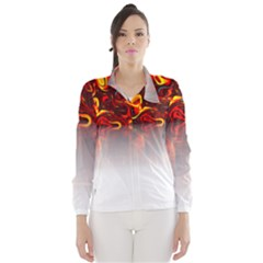 Effect Pattern Brush Red Wind Breaker (women)