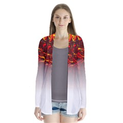 Effect Pattern Brush Red Cardigans
