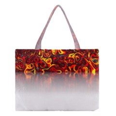Effect Pattern Brush Red Medium Tote Bag
