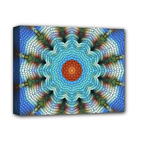 Pattern Blue Brown Background Deluxe Canvas 14  X 11