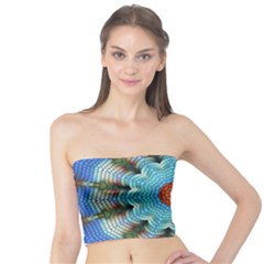 Pattern Blue Brown Background Tube Top