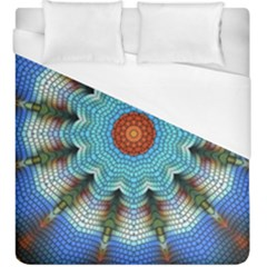 Pattern Blue Brown Background Duvet Cover (king Size)