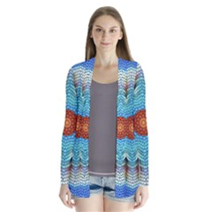 Pattern Blue Brown Background Cardigans