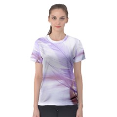 Ring Feather Marriage Pink Gold Women s Sport Mesh Tee