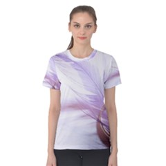 Ring Feather Marriage Pink Gold Women s Cotton Tee