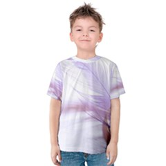 Ring Feather Marriage Pink Gold Kids  Cotton Tee