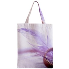 Ring Feather Marriage Pink Gold Classic Tote Bag