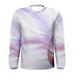 Ring Feather Marriage Pink Gold Men s Long Sleeve Tee