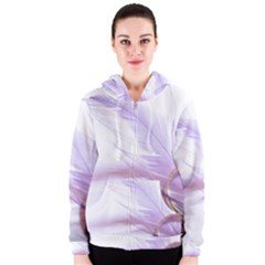 Ring Feather Marriage Pink Gold Women s Zipper Hoodie