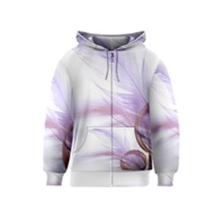 Ring Feather Marriage Pink Gold Kids  Zipper Hoodie