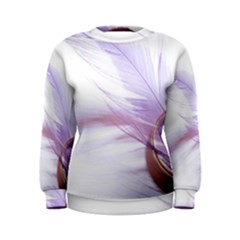 Ring Feather Marriage Pink Gold Women s Sweatshirt