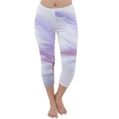 Ring Feather Marriage Pink Gold Capri Winter Leggings