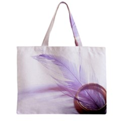 Ring Feather Marriage Pink Gold Zipper Mini Tote Bag