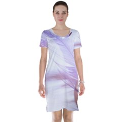 Ring Feather Marriage Pink Gold Short Sleeve Nightdress