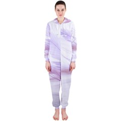 Ring Feather Marriage Pink Gold Hooded Jumpsuit (ladies)