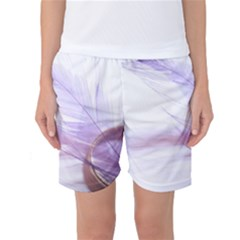 Ring Feather Marriage Pink Gold Women s Basketball Shorts
